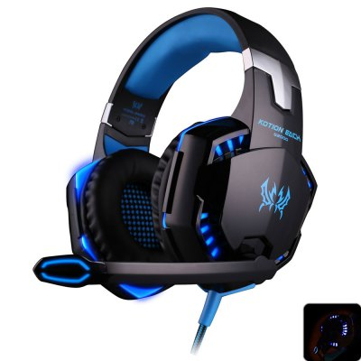 EACH G2000 USB and Audio Jack Dual Input Gaming Headset Stereo Headphone Sound Headset Stretchable Band 2.2m Nylon - coated Cabl