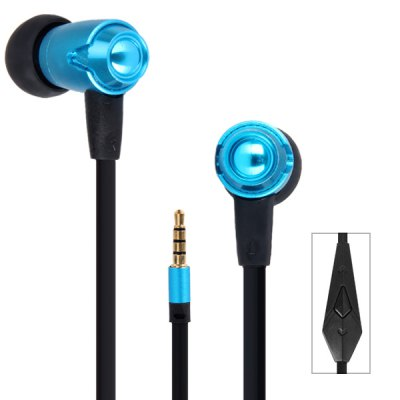 OVLENG IP810 Real Bass Sound In - ear Headphone 1.2M Noodle Cable with Mic 3.5MM Jack for iPhone Smartphone MP3 MP4 Laptops