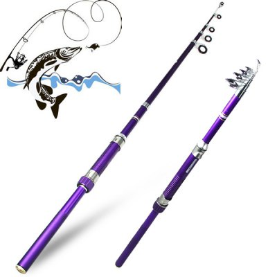 Yoshikawa H210 Portable 2.1m Telescopic Fly Fishing Rod Pole Stick