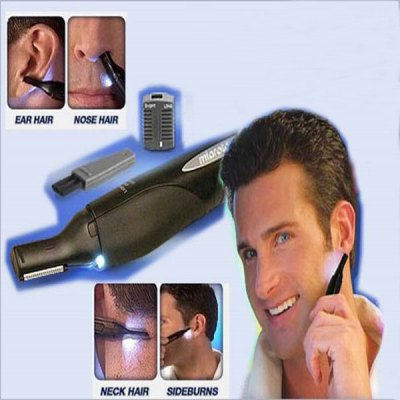 Multifunctional Micro Touch LED Light Hair Remover for Men  -  Black