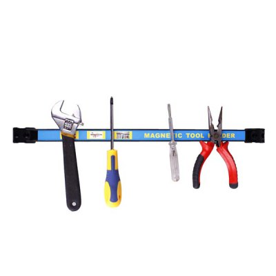 Multifunctional Wall Mount Strip Magnetic Wrench Knife Scissor Tools Storage Holder Practical Gadget