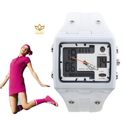 kasi 7014 Waterproof Sports Digital Wristwatch with Multiple Screens