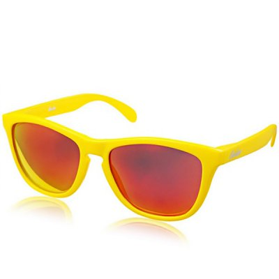 Fashion All-match UV Protection Ergonomics Design Red Lens Sunglasses