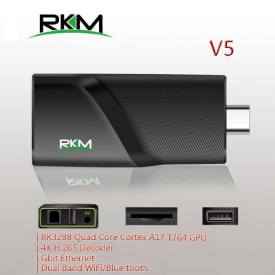 Rikomagic RKM V5 RK3288 Android 4.4 Quad Core 4K x 2K TV Box H.265 HEVC Google TV Player ( 2GB RAM 16GB ROM ) for WiFi Bluetooth