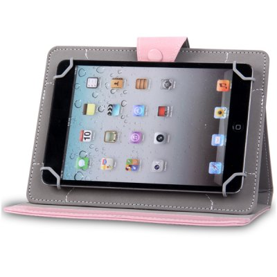Folding Stand PU Case with and Four Buckles Design for 8 inch Universal Tablet PC