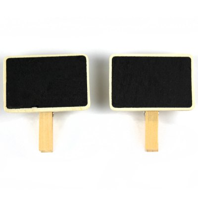 Wooden Blackboard Message Clip