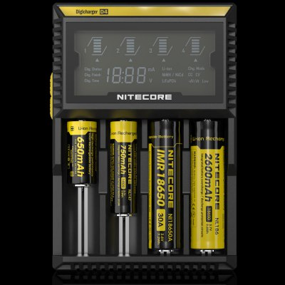 Nitecore D4 Li-ion Ni-MH NiCd LiFePO4 Smart LCD Battery Charger