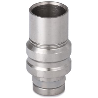 Big Bore Stainless Steel E - Cigarette Mouthpiece Holder Drip Tip with Double Threads for 510 Atomizers