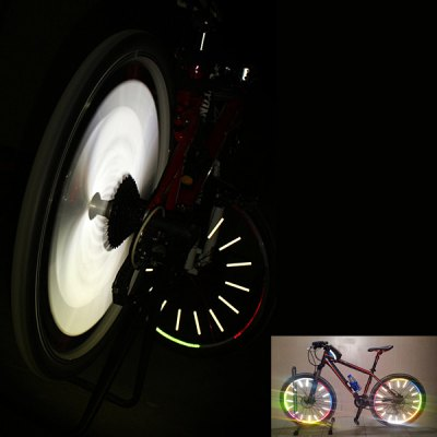 50 PCS Bicycle Wheel Reflective Spokes Stickers Rim Steel Wire Safe Accessories (Red)