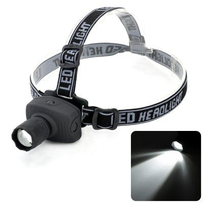 Cree Q5 LED Zoomable Headlight Fishing Lamp (160 Lumens 3 Modes 3 x AAA Battery)