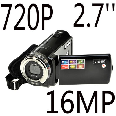HD 720P 2.7 inch TFT LCD 16.0MP Digital Video Camera