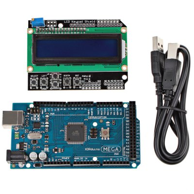 Mega 2560 R3 Development Board LCD Module Kit for Arduino with USB Cable