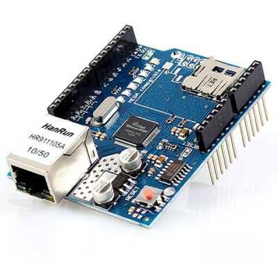 Ethernet Shield with Wiznet W5100 Ethernet Chip Support Micro SD Card   -  Arduino Compatible