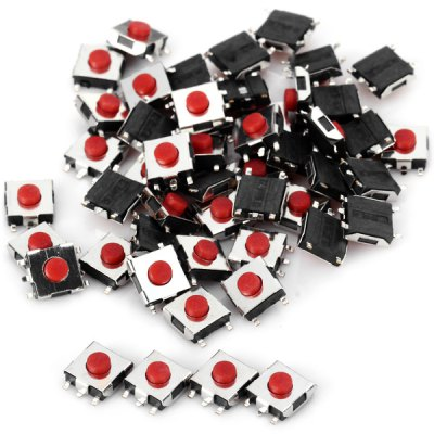 PA66 DIY DC12V 50mA Mini Tact Switches for Electronic Components  -  50PCS