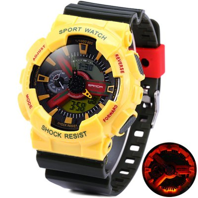 Sanda 299 Sports LED Watch Army Militray Wristwatch Dual Movt