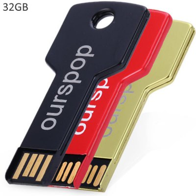 Ourspop OP - 518 Key Shape 32GB High Capacity USB2.0 Memory Flash Drive Support Windows 7 XP Vista Mac Linux