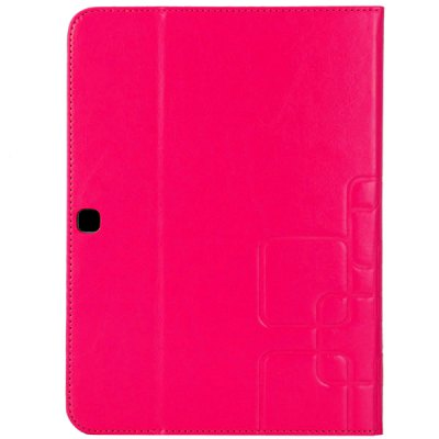 Folding Stand PU and Plastic Rear Cover Case with Card Holder for Samsung T530 T531 10.1 inch Tablet PC