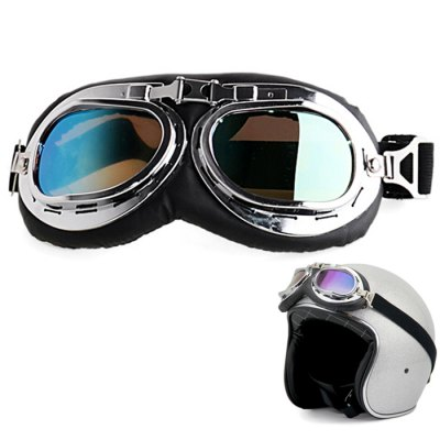 Vintage Unisex Foldable Motorcycle Goggles Glasses of PC Lens