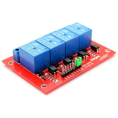 4 - Channel AC/DC Relay Module  -  125V - 250V AC / 30V DC / 10A per Channel