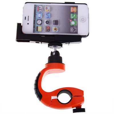 Z18-5 Sportpod-5 Mini Bandage Bike Bracket Special Designed for Camera Mobile Phone - Orange with Black
