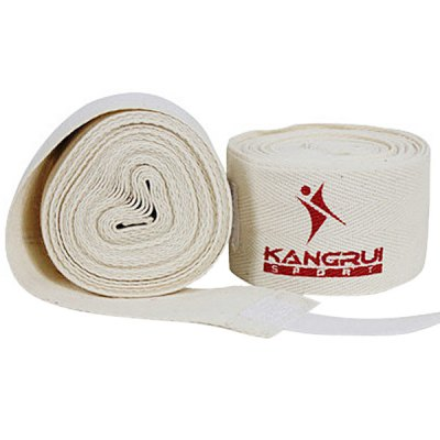 2PCS Comfortable Pure Cotton Boxing Bandage for Physical Exercise and 5 Meters Length (White)