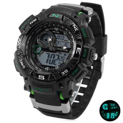 Alike 1389 Double Movt LED Military Watch