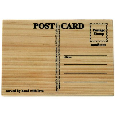 Creative DIY Wooden Postcard Postal for Friends Families