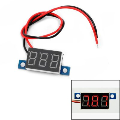 DIY Three Bit 0.36 inch Red LED Display Voltage Meter ( 3.3  -  30 V ) for DIY Project
