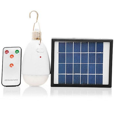 2W 22 - LED Remote Control Solar Lamp with Mobile USB Charger Camping Outdoor Travel