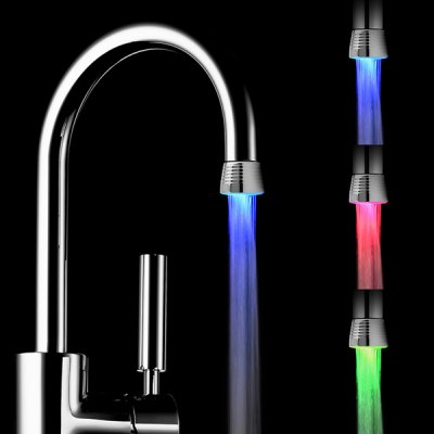 Romantic RC - F1101 LED Light Handle Facuet Glow Tap Sink with Temperature Control Sensor