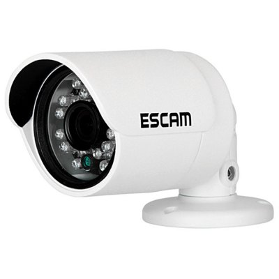ESCAM QD310 3.6mm Lens 1/4 inch 1MP Progressive CMOS Goblet Camera with 24pcs 5mm Diameter IR Leds and 15m Range Support Day and