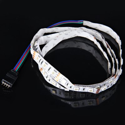 1M 14.4W 60 - SMD 5050 LED DC12V RGB Non - waterproof Car Decoration Light Strip