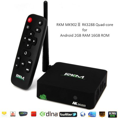 RKM MK902Ⅱ RK3288 Android 4.4 Quad - Core 4K x 2K WiFi Bluetooth 4.0 TV Box 2GB RAM 16GB ROM Support Ethernet Xbmc DLNA  -  EU P