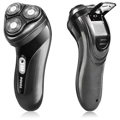 POVOS PQ7100 3D Floating Triple - head Pop - up Soft - touch Switch Trimmer Electric Shaver