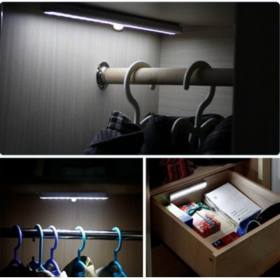 L0406 Infrared Induction Sensor 10 LEDs Light Auto PIR Lamp for Cabinet Corridor