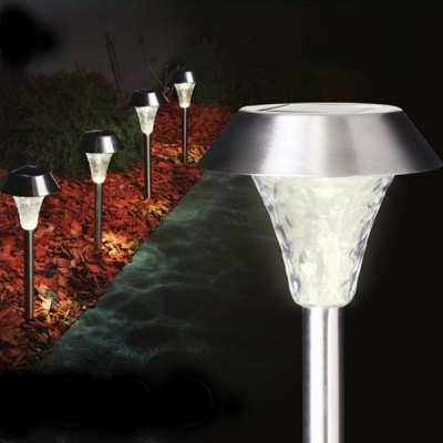 Durable 1 - LED Stainless Steel Solar Lawn Light Lamp Suitable for pathway garden yard etc.