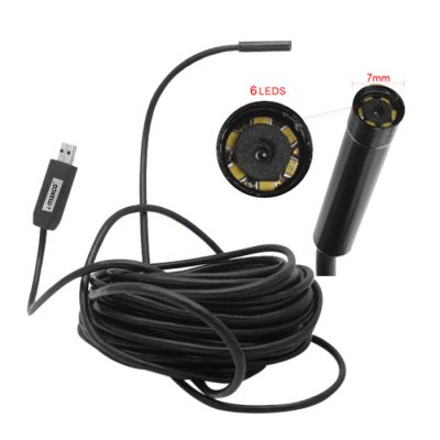 Borescope Endoscope Pipe Inspection Video Monitor with Side Mirror  -  10m Cable Length