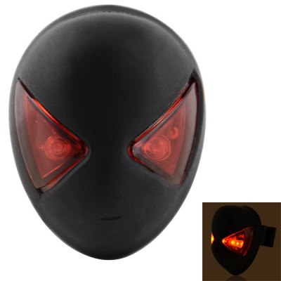 Spider Man Shape Rechargeable 32LM 2 - LED 3 - Mode Red Light Bicycle Tail Light Rear Lamp