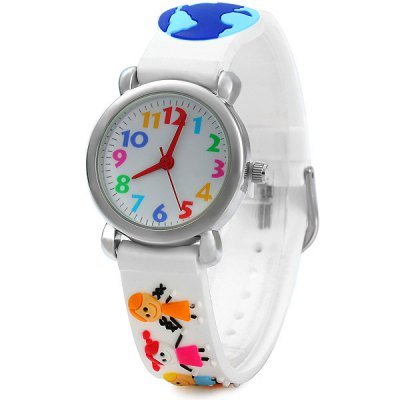 Children Litter Friends Quartz Watch Rubber Watch Band