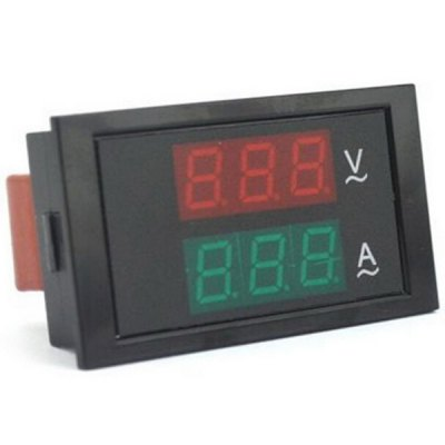Multifunctional Three Bit Dual Red Green LED Display AC 100  -  300V Amperemeter for DIY Project