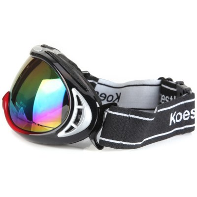 Euopean O - Flame Design Red Snowmobile Ski Goggle Windproof Eyewear  -  Large Sizeの画像 3
