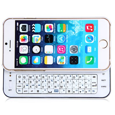 PC Material Slide-out Luminous Wireless Bluetooth 3.0 Keyboard Back Case with Ultra Slim Design for iPhone 6 6S 4.7 inches