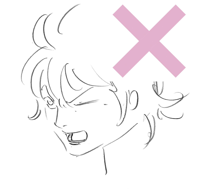 表情を考えて顔を描く アニメキャラクターの作画デザインテクニック