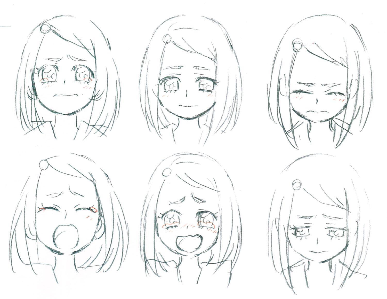 表情と顔の角度でキャラクターの感情と性格を表現する 香川久馬越嘉彦