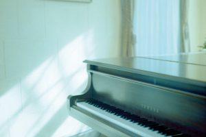 映り込みや角度によって多彩な視点が得られる「ピアノ」