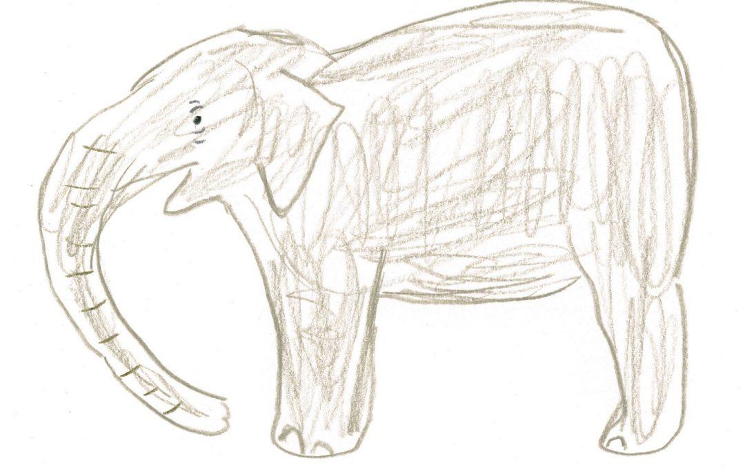 絵描き歌で楽しくゾウを描いてみよう!