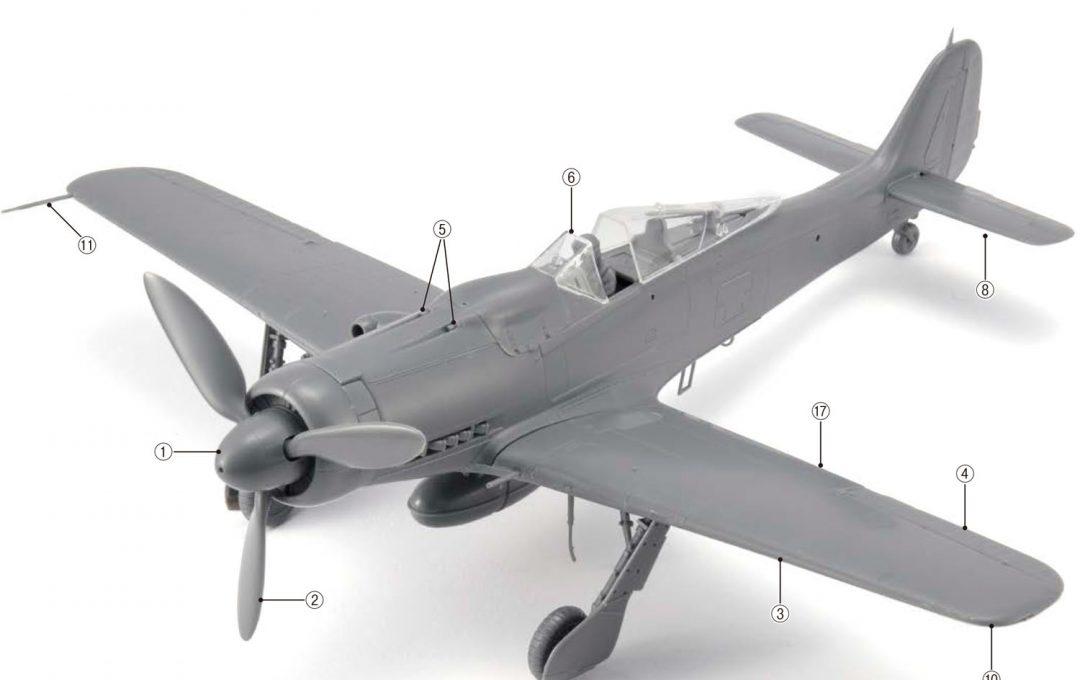 組み上げるときに知っておくと便利な飛行機各部位の名称