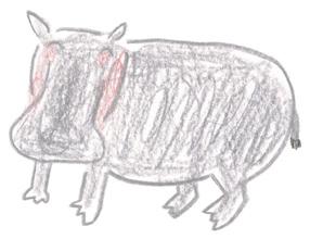 ミヤタチカのお絵描き動物園-第8回カバDrawing09