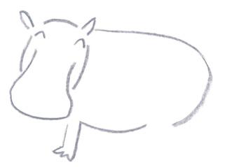 ミヤタチカのお絵描き動物園-第8回カバDrawing05