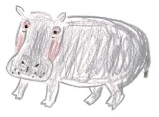 ミヤタチカのお絵描き動物園-第8回カバDrawing10